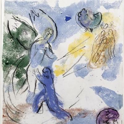 "'Jacob wrestling with the angel"" - Marc Chagall"